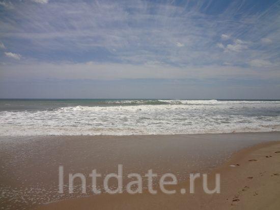 пляж в тунисе