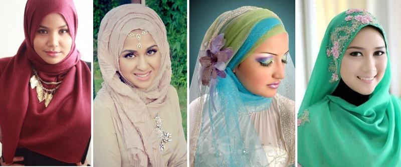 хиджаб праздничный вариант